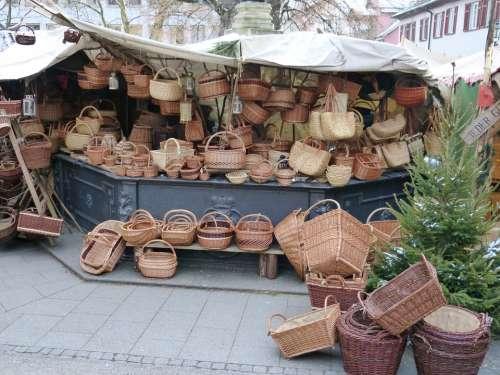 Market Sale Sales Stand Stand Basket Baskets