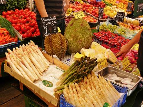 Market Stall Market Vegetable Stand Asparagus