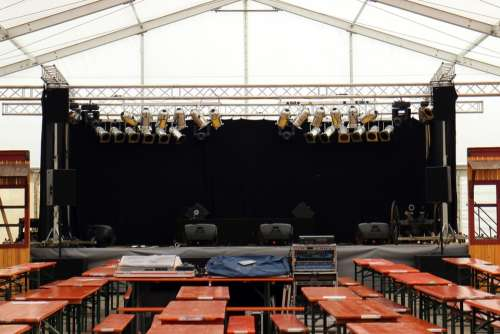 Marquee Tent Bierbaenke Stage Spotlight Podium