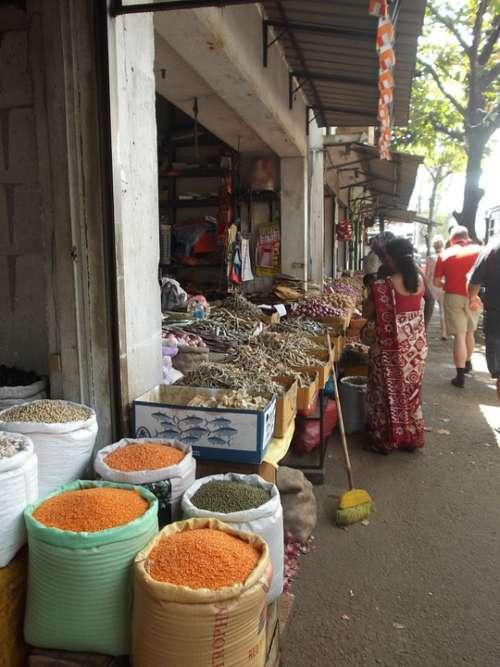 Mart Street Market Colombo Sri Lanka Spices