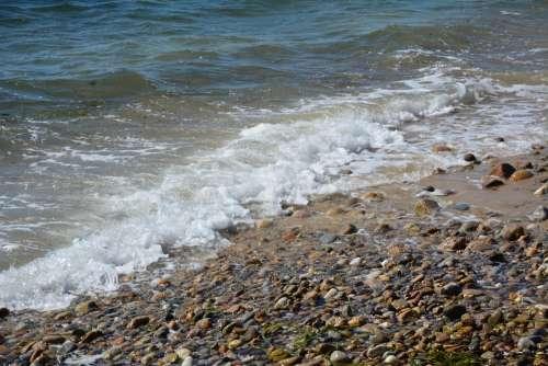 Martha'S Vineyard Beach Rocks Ocean Waves Nature