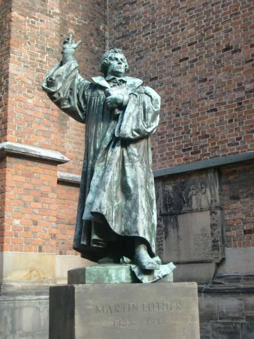 Martin Luther Statue Protestant Church Germany