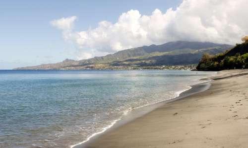 Martinique Peeled Ocean Island Beach Sea Caribbean
