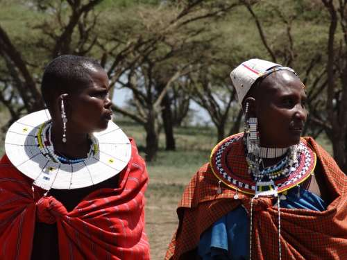 Masai Visit To The Masai Women Necklaces Ethnic