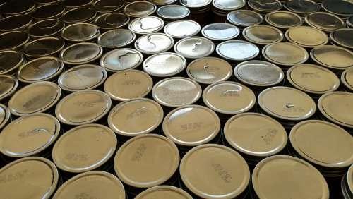 Mason Jar Canning Lids Shiny Pattern