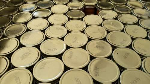 Mason Jar Canning Lids Shiny
