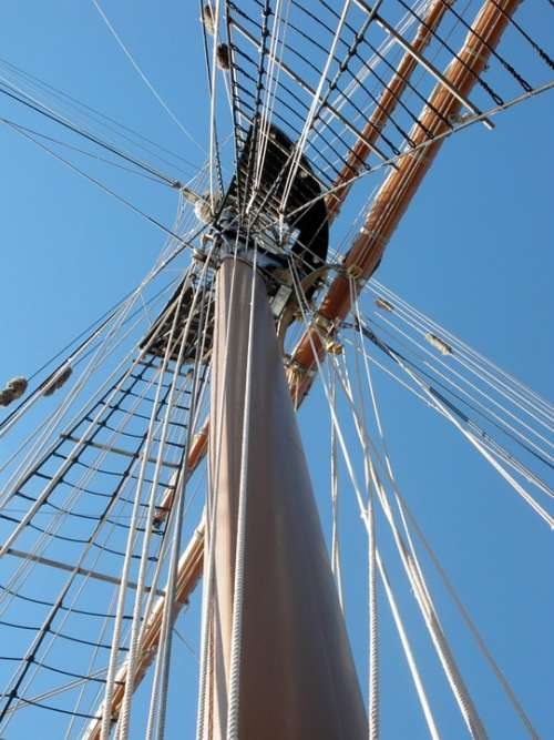Mast Ship Boat Sailboat Rigging Maritime