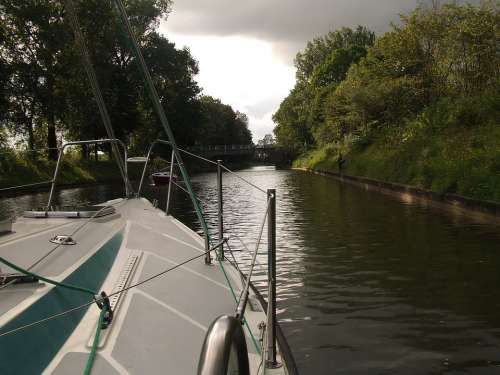 Masuria Lake Channel Water Boat