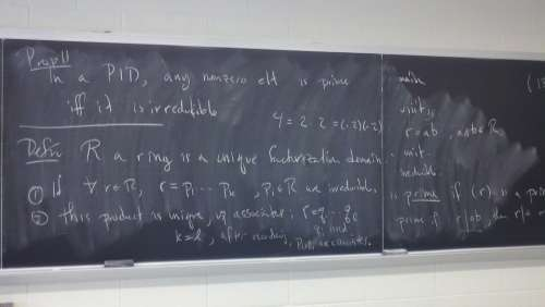 Mathematics Math Abstract Algebra Chalk Board