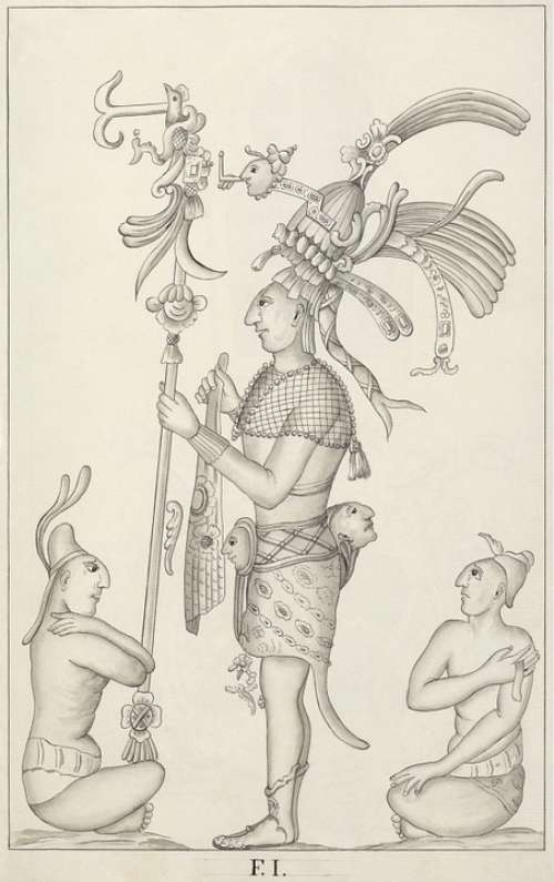 Maya Aztecs Mexico Drawing Palenque 1787