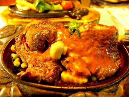 Meat Lunch Food Dining Hong Kong Steak