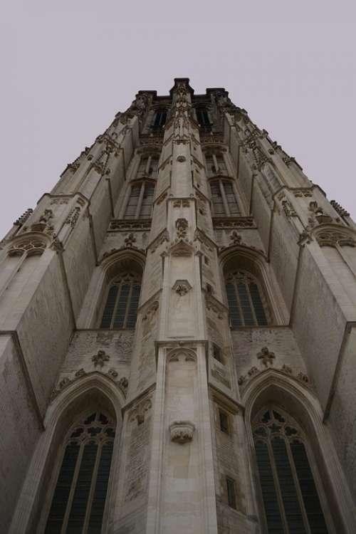 Mechelen Tower Building Church Architecture Facade