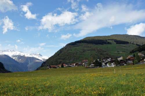 Medel Switzerland Landscape Scenic Mountains