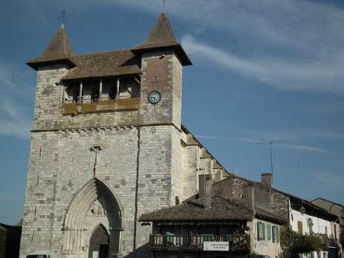 Medieval Church Villeréal Dordogne