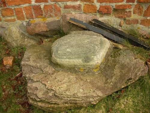 Medieval Castle Detail Archeology Excavation