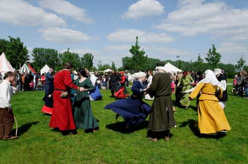 Medieval Market Meadow Dance Garments Costumes