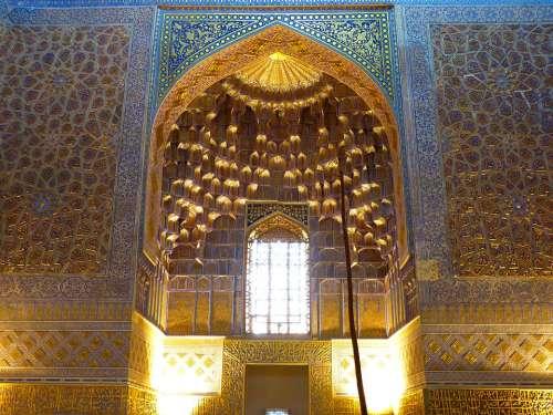 Medrese Tillakori Medrese Tillya Kori Mosque Gilded