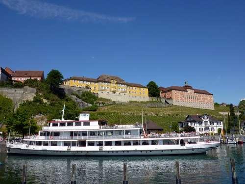 Meersburg Ship Passenger Ship Lake Constance Facade