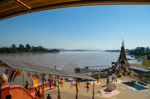 Mekong River River Golden Triangle Thailand Asia