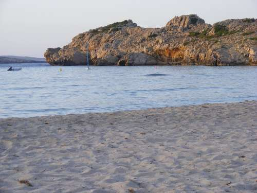 Menorca Rock Evening Sun