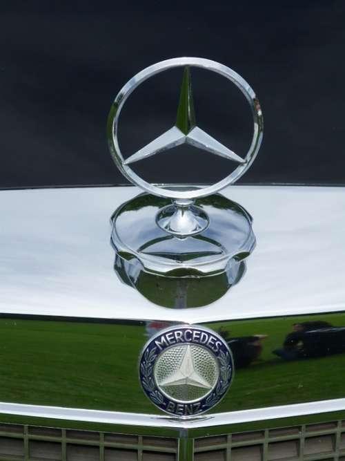 Mercedes Star Auto Oldtimer Black Mercedes Star