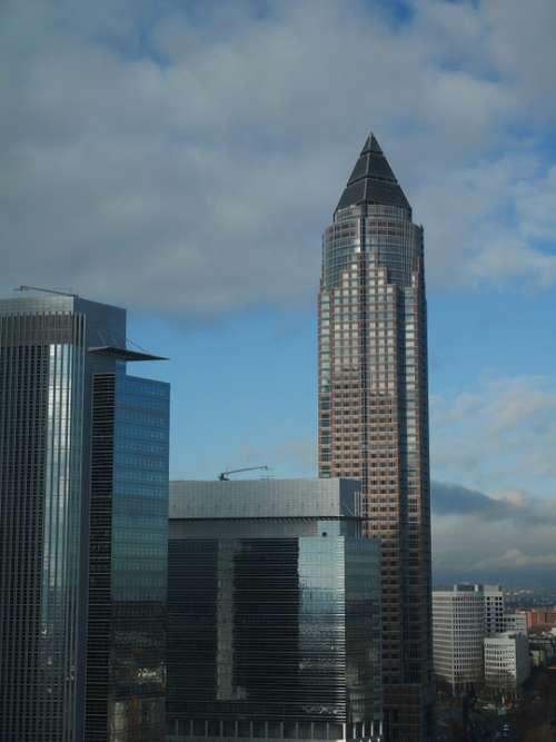 Messeturm Frankfurt Architecture Skyscraper