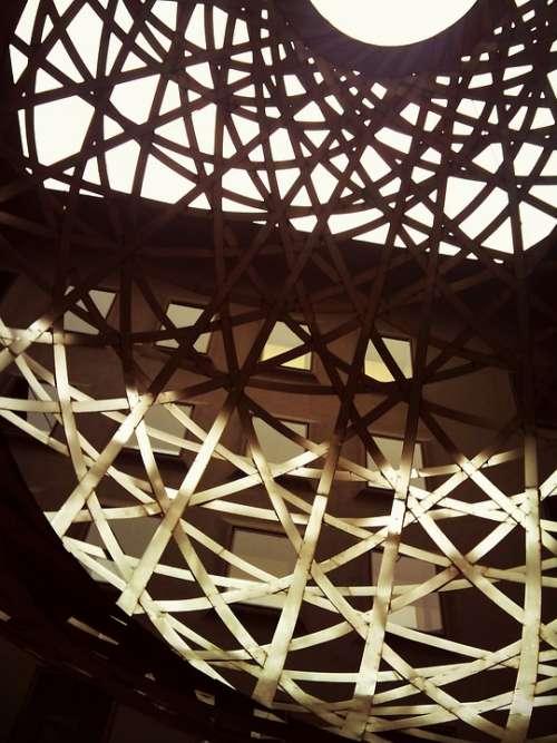 Metal Iron Gold Ball Stripes Sky Monument Sepia