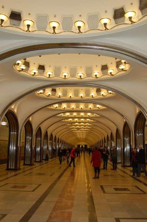 Metro Train Station Russia Architecture