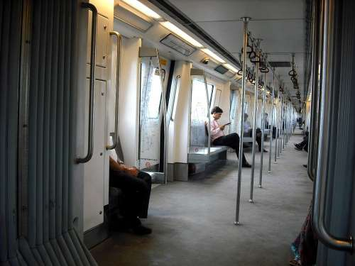 Metro New Delhi Subway Train India