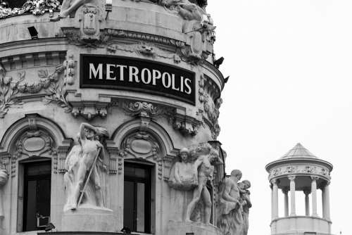 Metropolis Madrid Building City Architecture