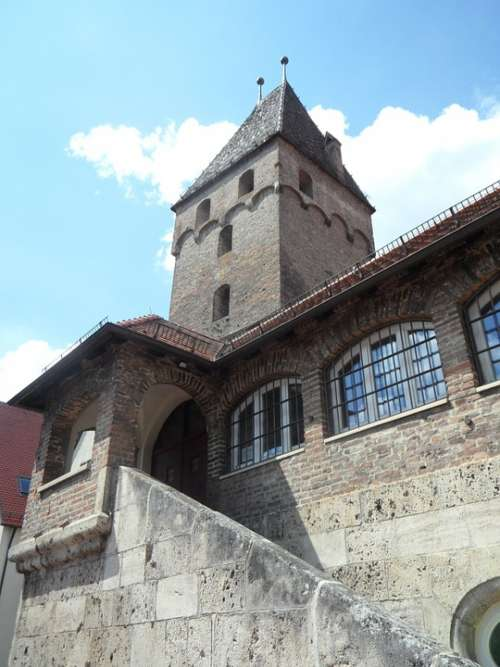 Metzgerturm Tower Building Ulm Sky Old Masonry