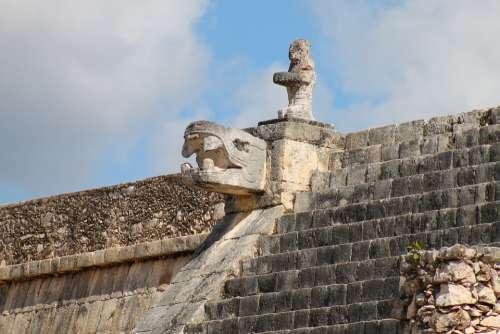 Mexico Chichen Itza Pyramid Kukulcan