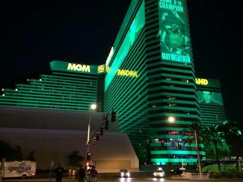 Mgm Grand Las Vegas Strip Nevada Night Casino