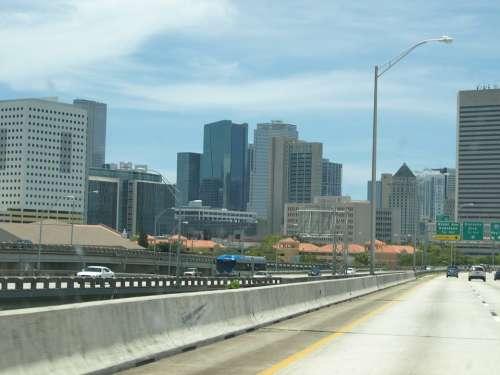 Miami Skyline Building Usa Architecture Florida