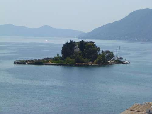 Mice Island Pontikonissi Island Islet Corfu