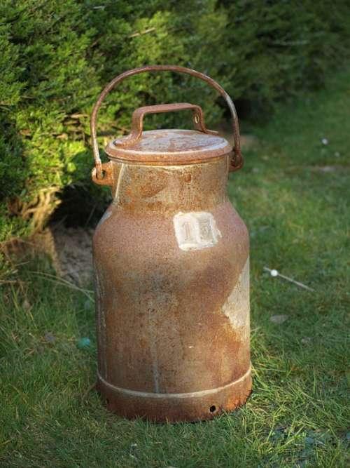 Milk Can Old Iron Pot