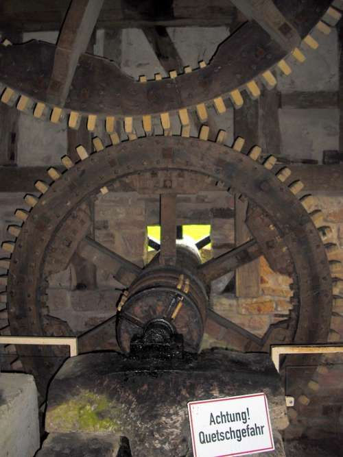 Mill Gears Wooden Gears Gearings Old Historically