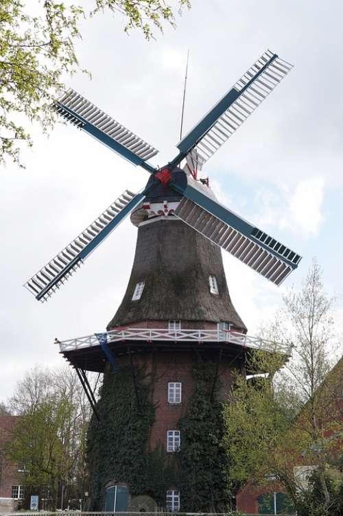 Mill East Frisia Windmill Wing Wind Grind