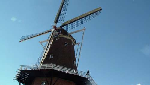 Mill Sky Windmill Netherlands Wind Pinwheel