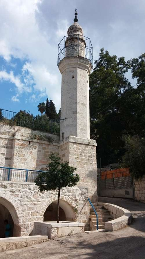 Minaret Antiquities Tower Jerusalem Islamic Israel