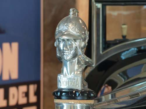 Minerva 1928 Head Ornament Car Automobile Vehicle