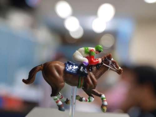 Miniature Toy Horse Race Horseman Play Speed