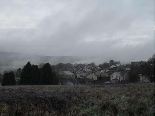 Mist Landscape Blaenavon Mountain