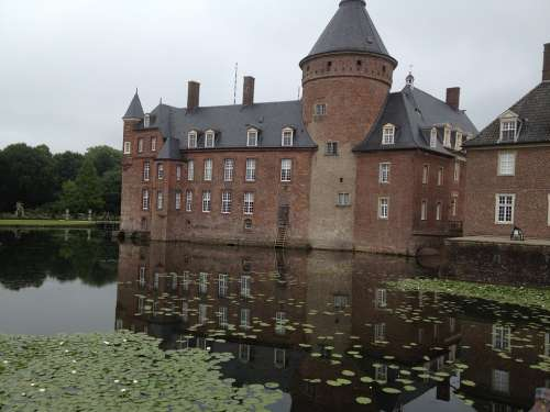 Moated Castle Anholt Germany North Rhine Westphalia