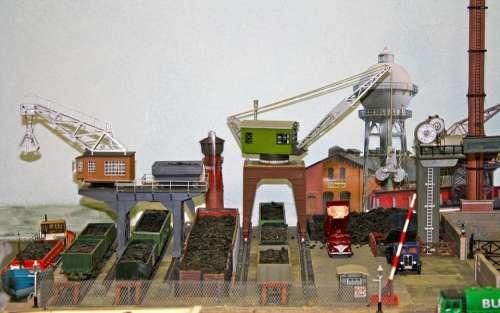 Model Layout Model Cranes Dock Cranes Coal Yard