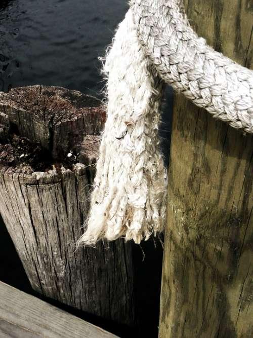 Mole Rope Water Ocean Sea Atlantic