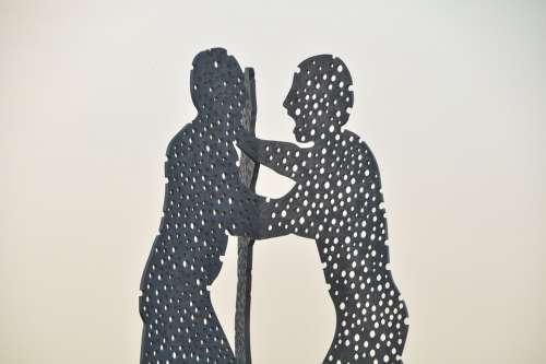 Molecule Men Sculpture Modern Art Artwork Berlin