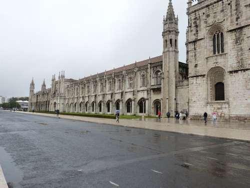 Monastery Architecture Historically Lisbon Statue