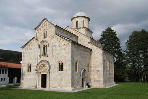 Monastery Kosovo Chapel Church Religion Religious