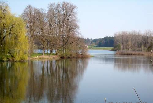 Monastery Seeon Little Lake Upper Bavaria Traunreut